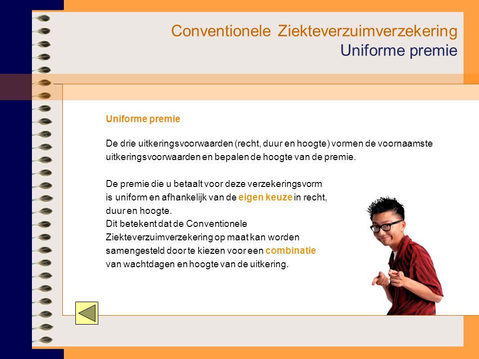 Conventionele Ziekteverzuimverzekering Uniforme premie