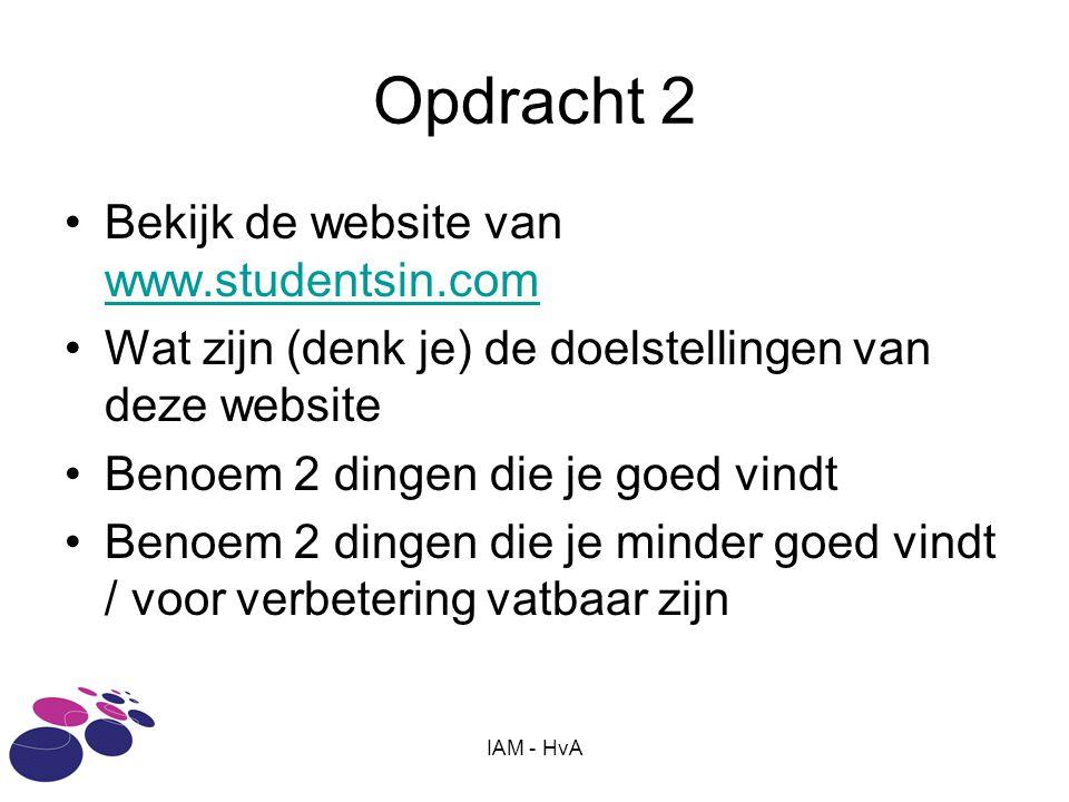Opdracht 2 Bekijk de website van www.studentsin.com