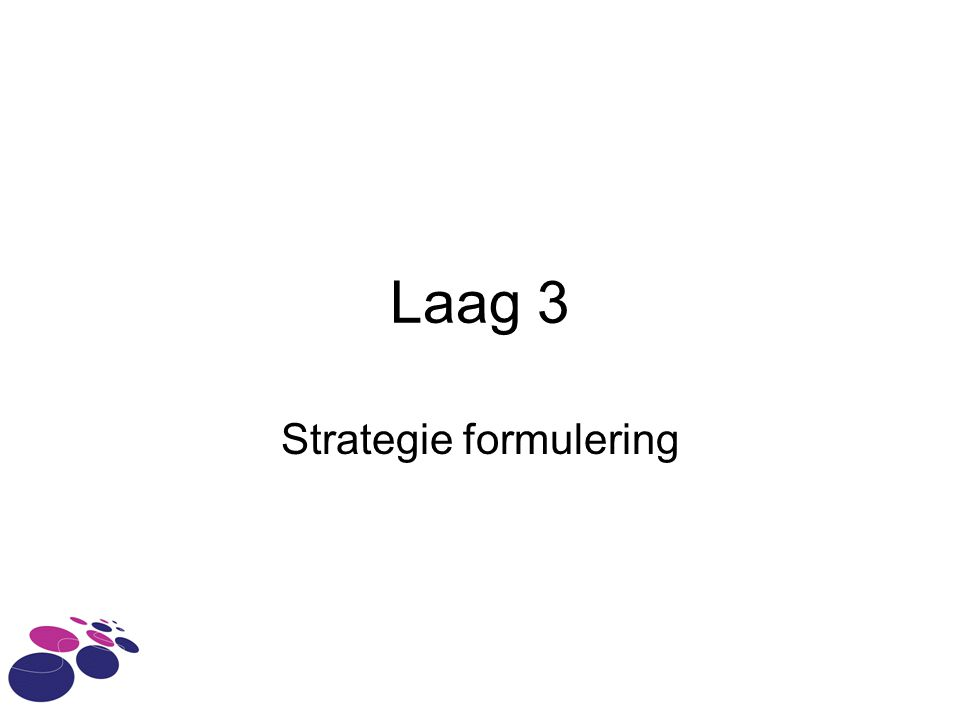 Strategie formulering