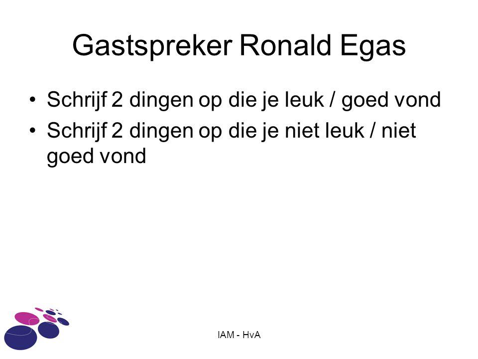 Gastspreker Ronald Egas
