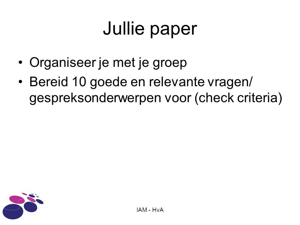 Jullie paper Organiseer je met je groep