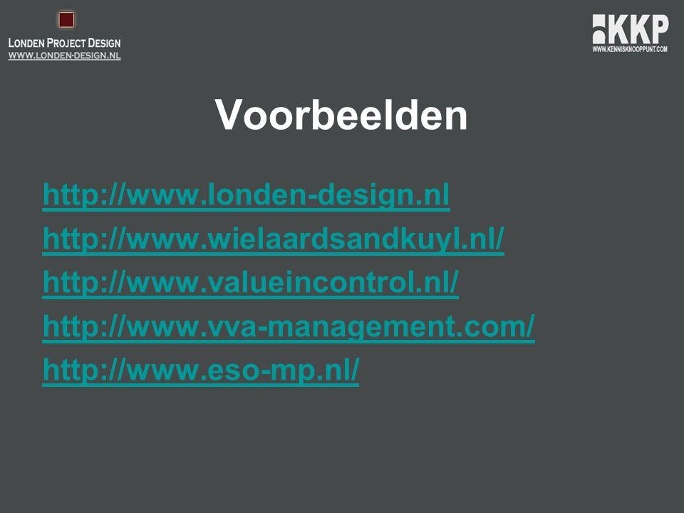 Voorbeelden http://www.londen-design.nl