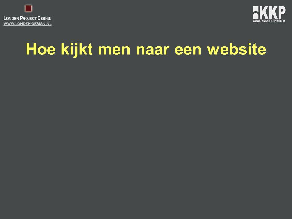Hoe kijkt men naar een website
