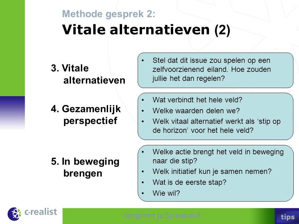 Methode gesprek 2: Vitale alternatieven (2)