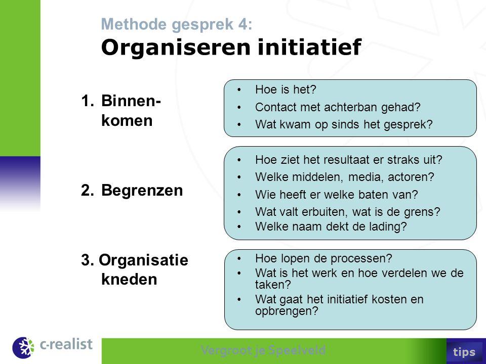 Methode gesprek 4: Organiseren initiatief