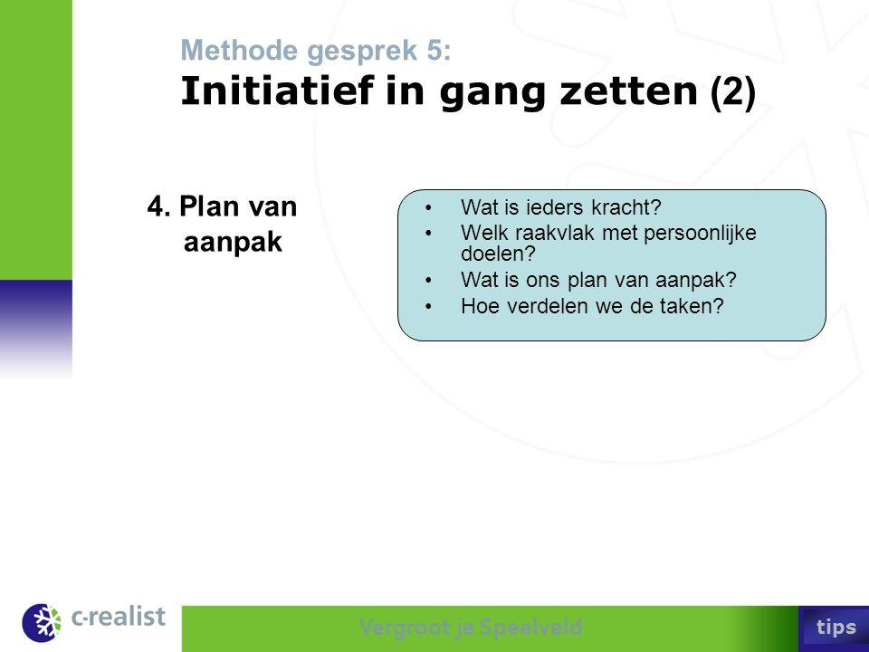 Methode gesprek 5: Initiatief in gang zetten (2)
