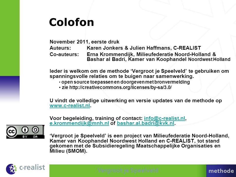 Colofon November 2011, eerste druk