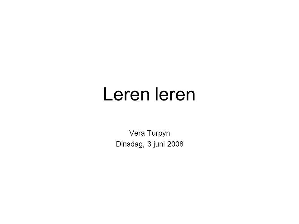 Vera Turpyn Dinsdag, 3 juni 2008