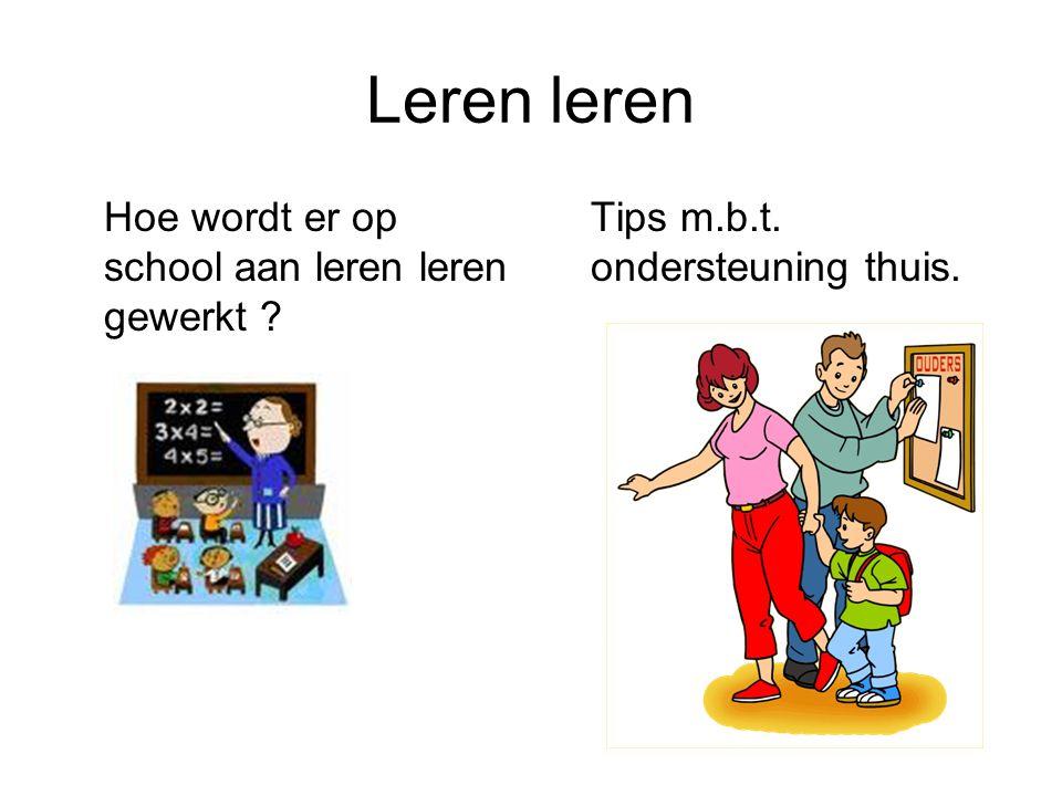 Leren leren Hoe wordt er op school aan leren leren gewerkt