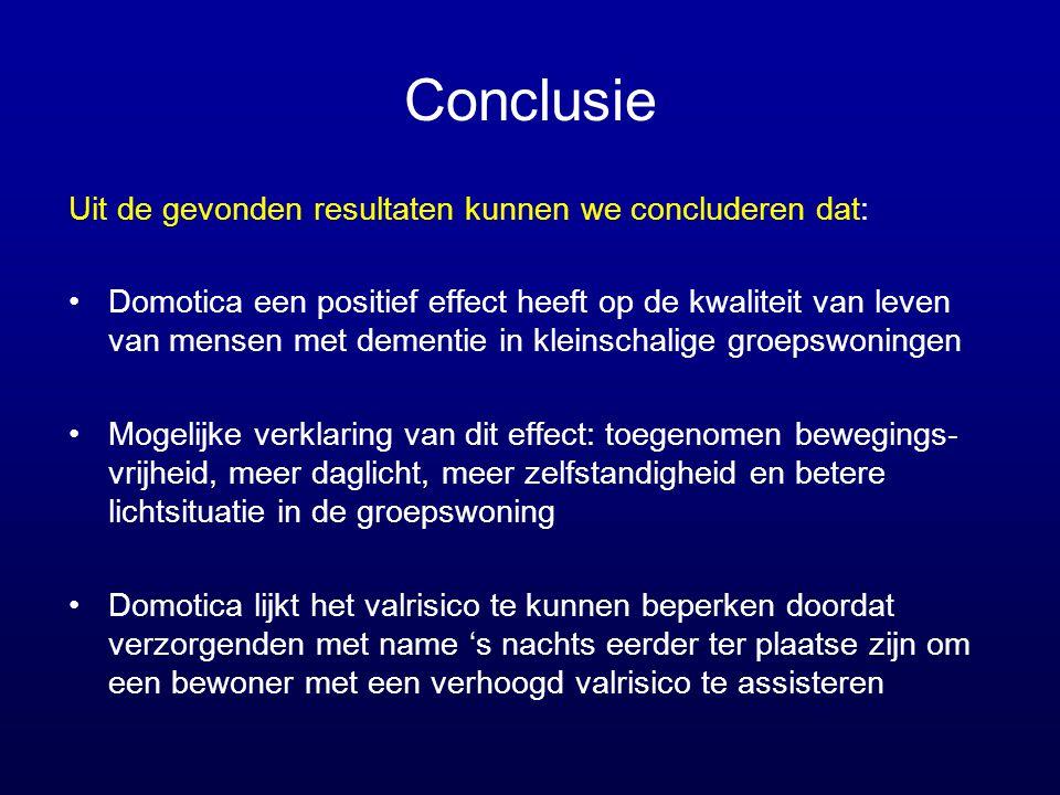 Conclusie Uit de gevonden resultaten kunnen we concluderen dat: