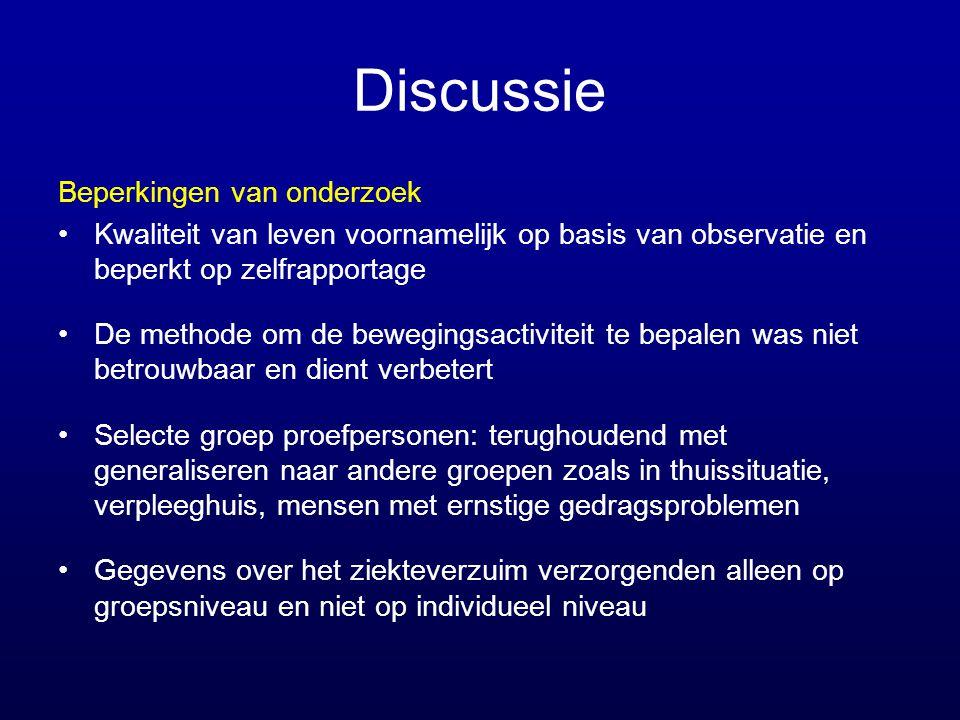 Discussie Beperkingen van onderzoek