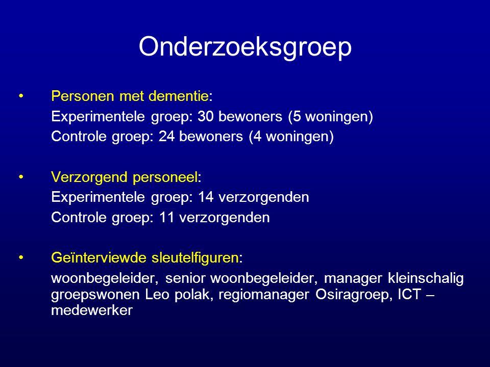 Onderzoeksgroep Personen met dementie: