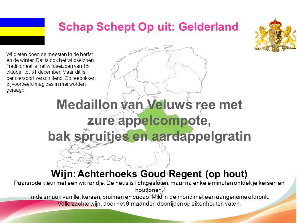 Medaillon van Veluws ree met zure appelcompote,