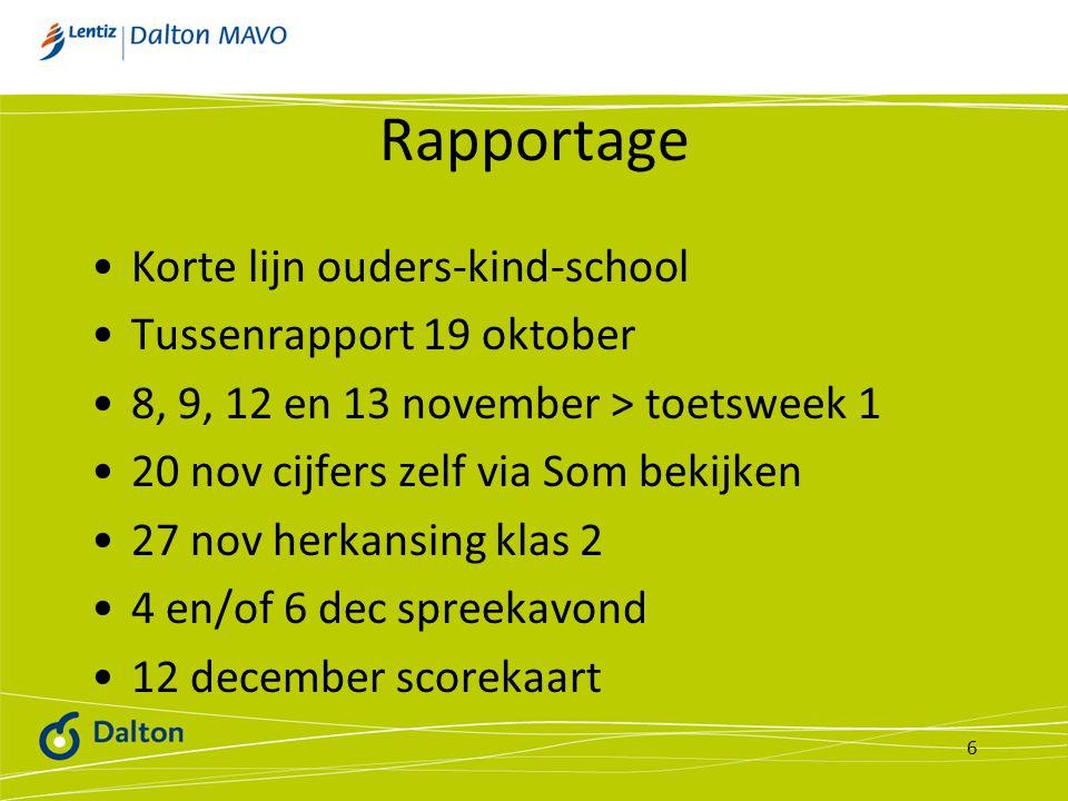 Rapportage Korte lijn ouders-kind-school Tussenrapport 19 oktober