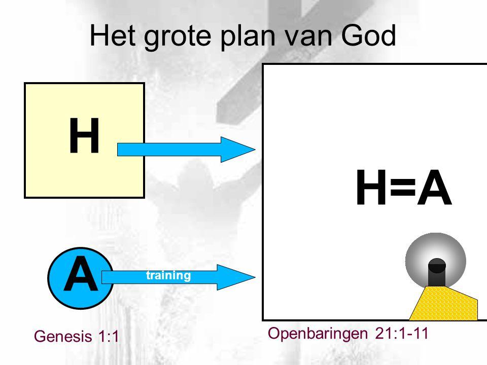 H H=A A Het grote plan van God Openbaringen 21:1-11 Genesis 1:1