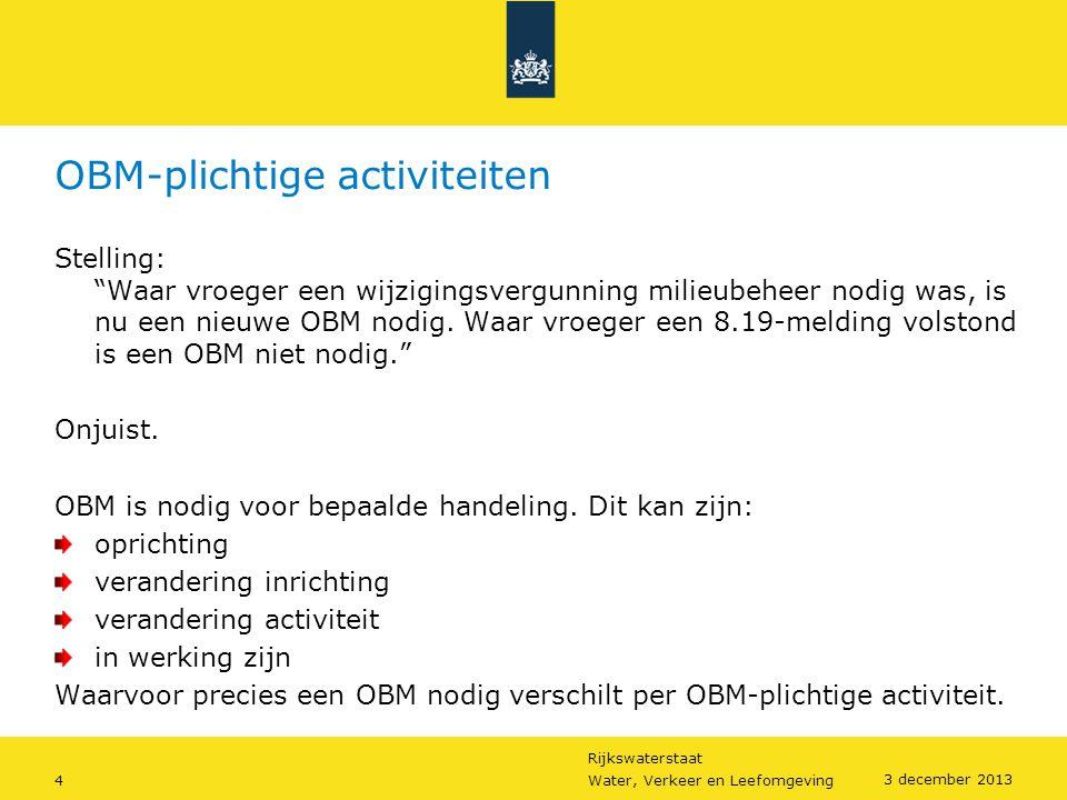 OBM-plichtige activiteiten
