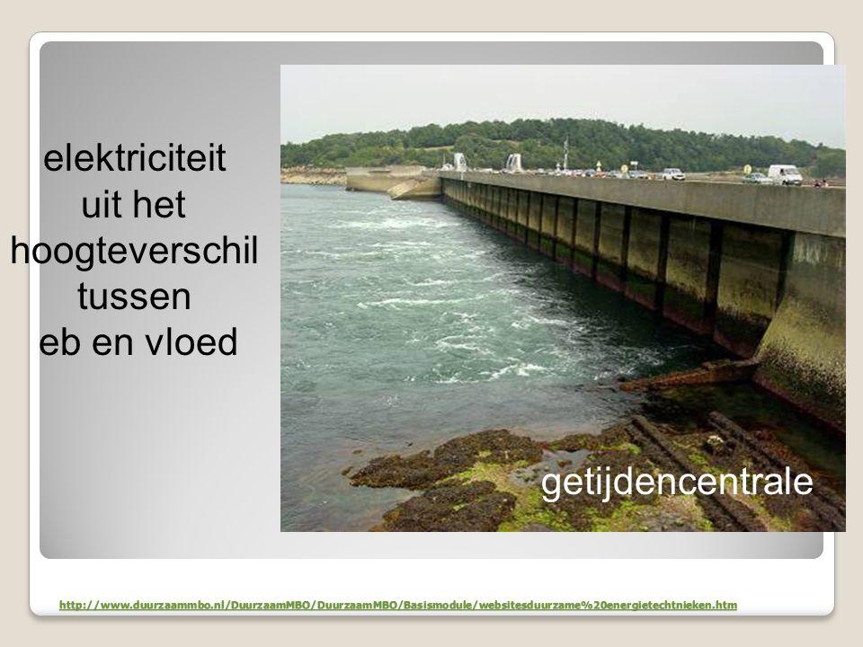 elektriciteit uit het hoogteverschil tussen eb en vloed