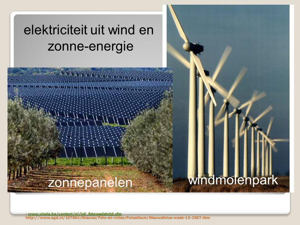 elektriciteit uit wind en