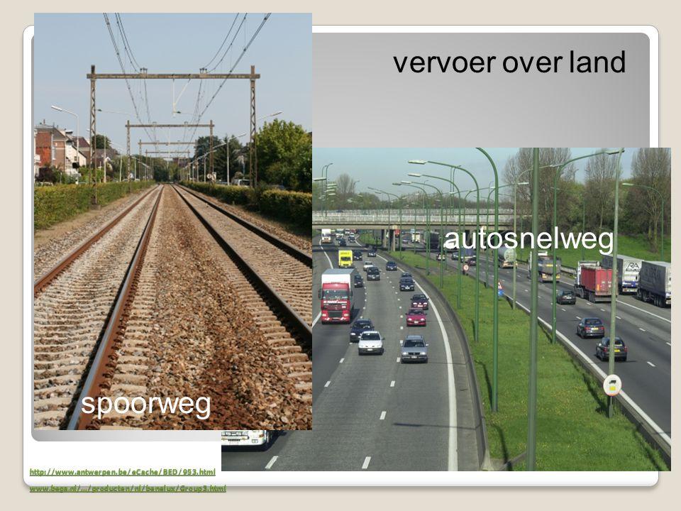 vervoer over land autosnelweg spoorweg