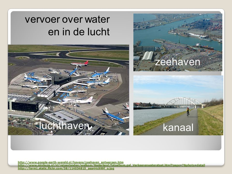 vervoer over water en in de lucht