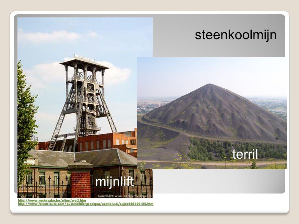 steenkoolmijn terril mijnlift