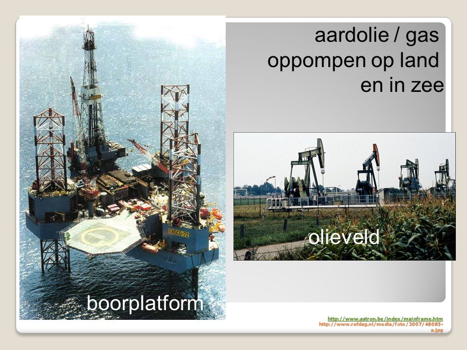 oppompen op land en in zee