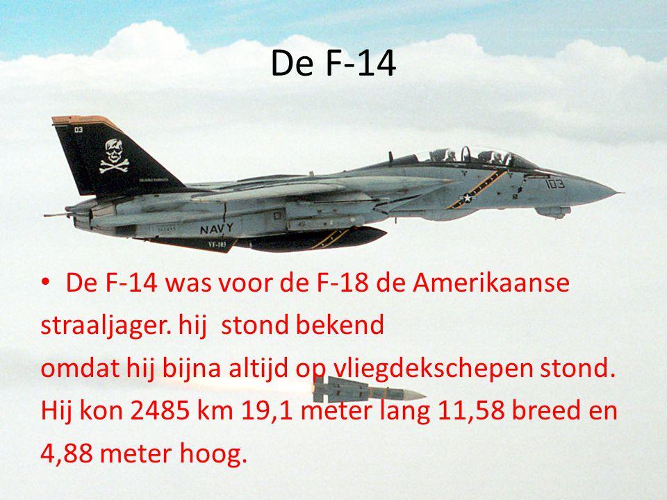 De F-14 De F-14 was voor de F-18 de Amerikaanse