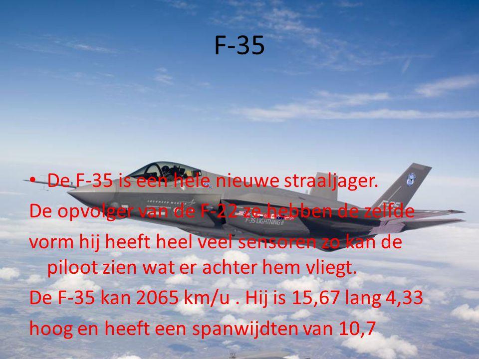 F-35 De F-35 is een hele nieuwe straaljager.
