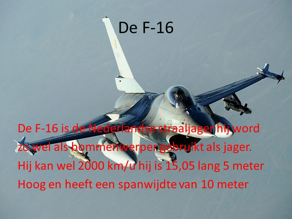 De F-16