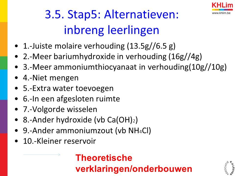 3.5. Stap5: Alternatieven: inbreng leerlingen