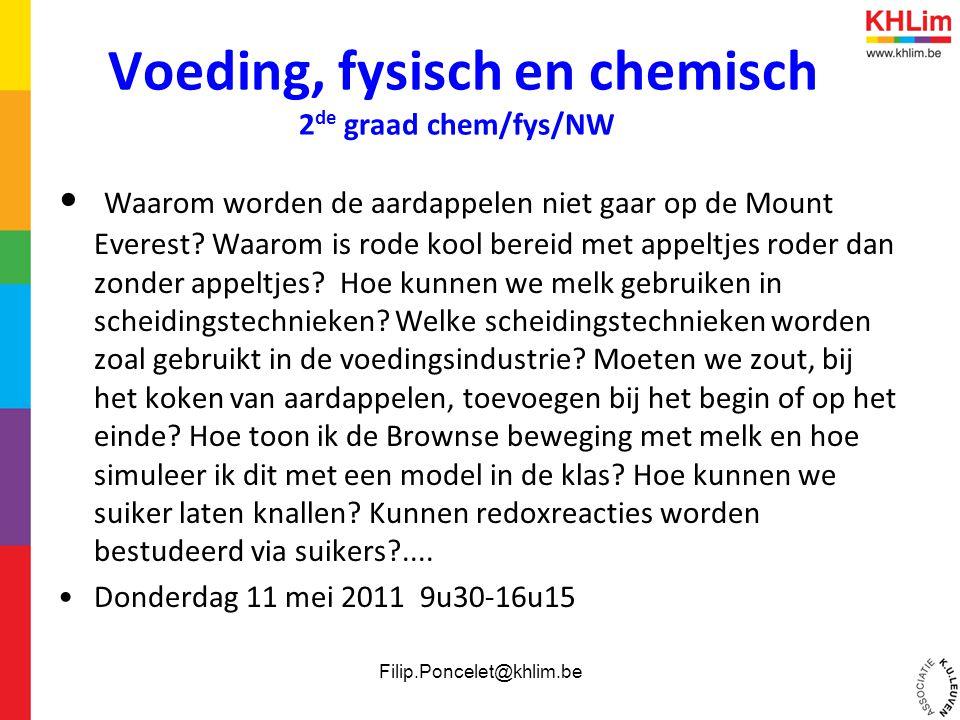 Voeding, fysisch en chemisch 2de graad chem/fys/NW