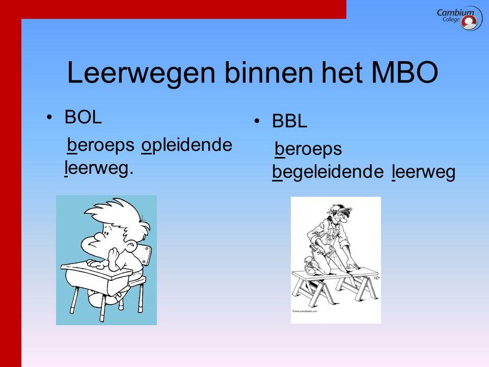 Leerwegen binnen het MBO