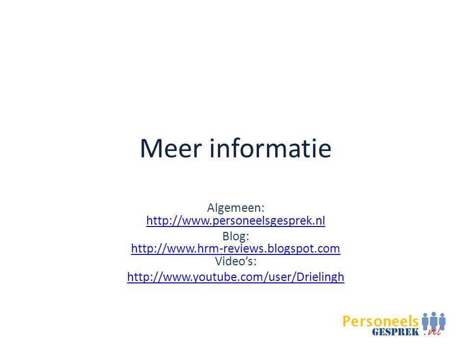 Meer informatie Algemeen: http://www.personeelsgesprek.nl