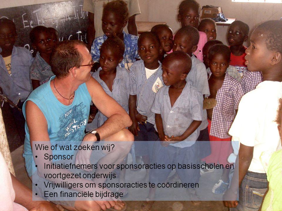 Wie of wat zoeken wij Sponsor. Initiatiefnemers voor sponsoracties op basisscholen en voortgezet onderwijs.