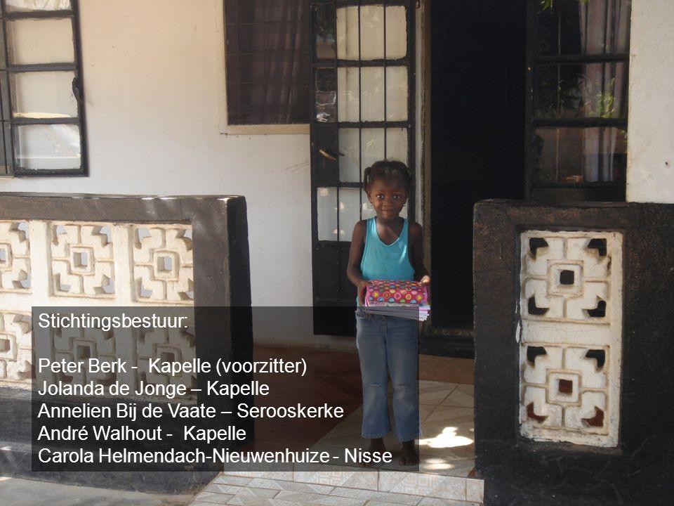 Stichtingsbestuur: Peter Berk - Kapelle (voorzitter) Jolanda de Jonge – Kapelle. Annelien Bij de Vaate – Serooskerke.