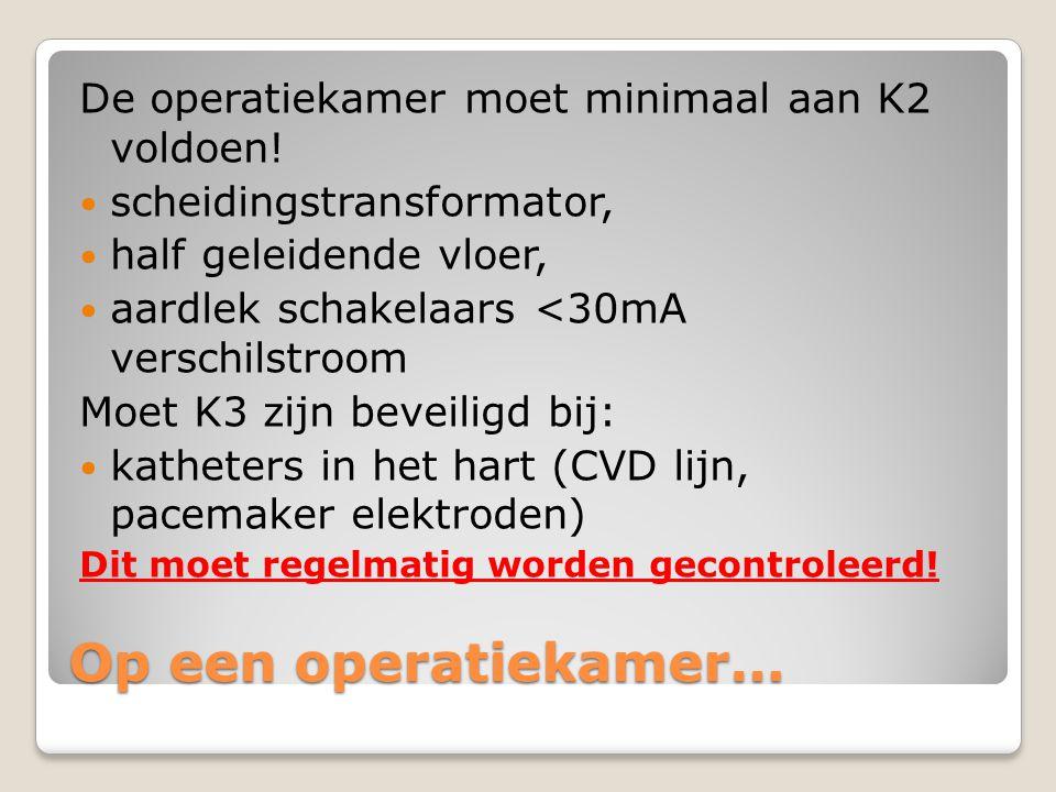 Op een operatiekamer… De operatiekamer moet minimaal aan K2 voldoen!