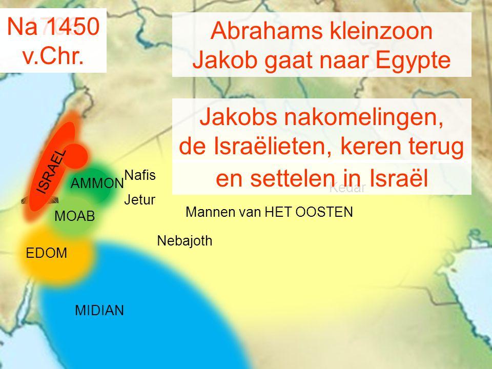 de Israëlieten, keren terug