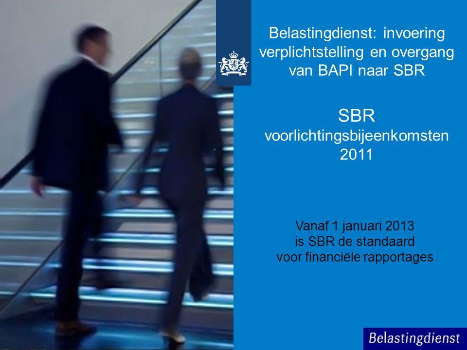 SBR voorlichtingsbijeenkomsten 2011
