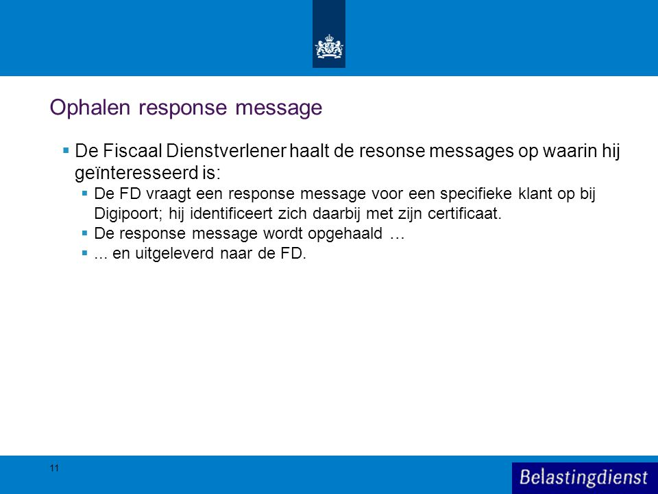 Ophalen response message