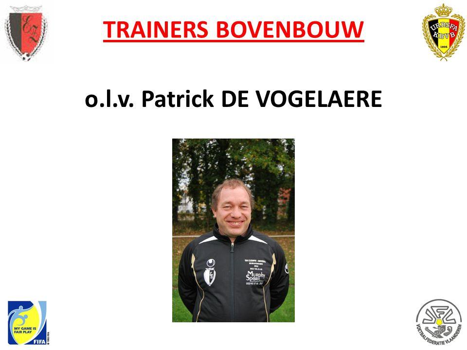 o.l.v. Patrick DE VOGELAERE