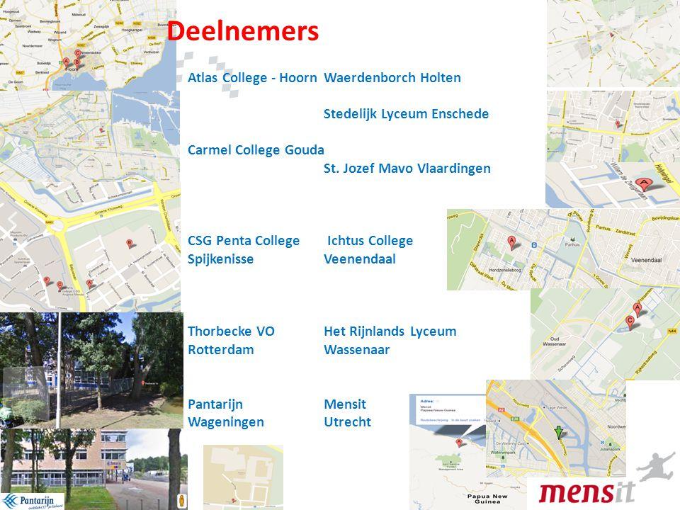 Deelnemers Atlas College - Hoorn Waerdenborch Holten