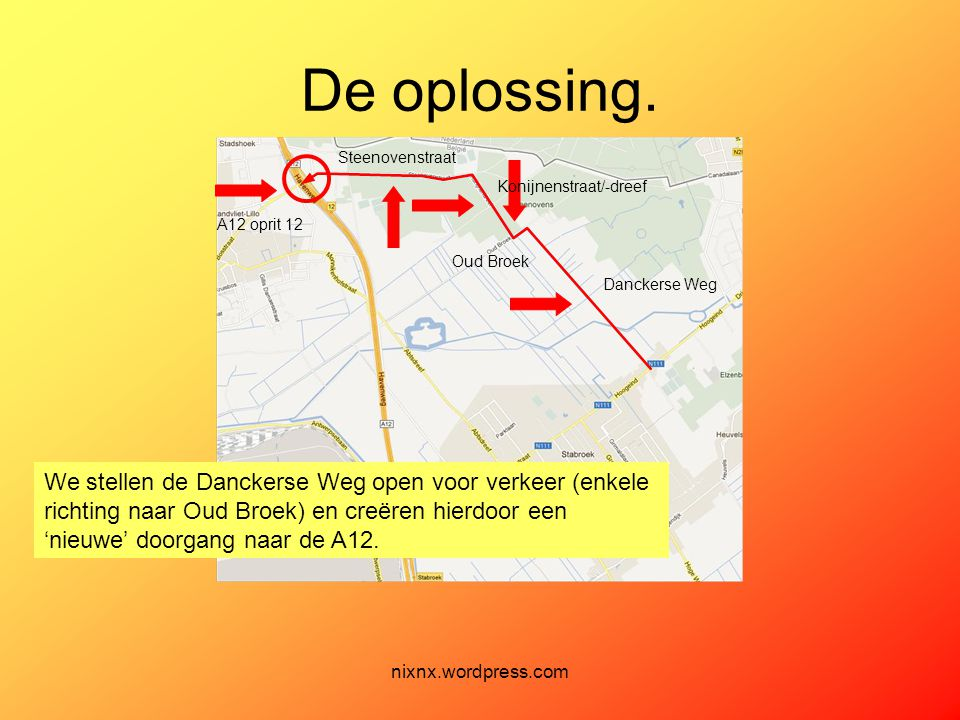 De oplossing. Steenovenstraat.