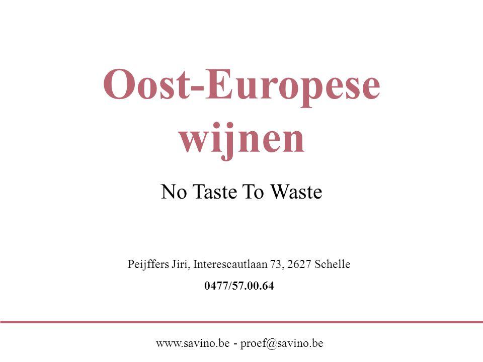 Oost-Europese wijnen No Taste To Waste