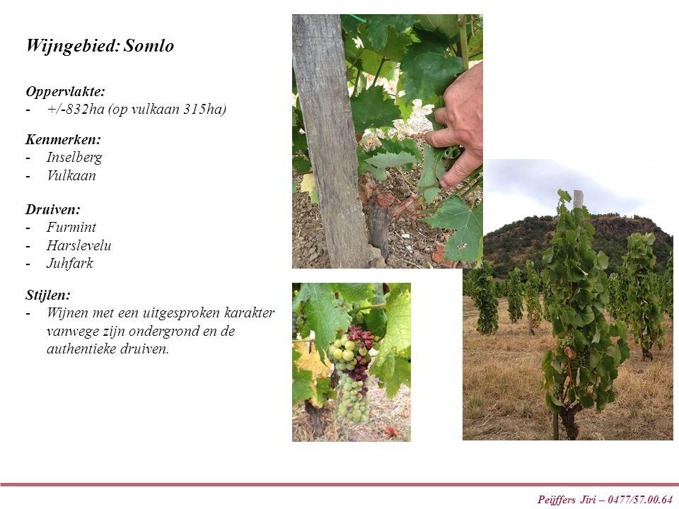 Wijngebied: Somlo Oppervlakte: +/-832ha (op vulkaan 315ha) Kenmerken: