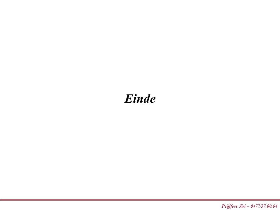 Einde Peijffers Jiri – 0477/57.00.64