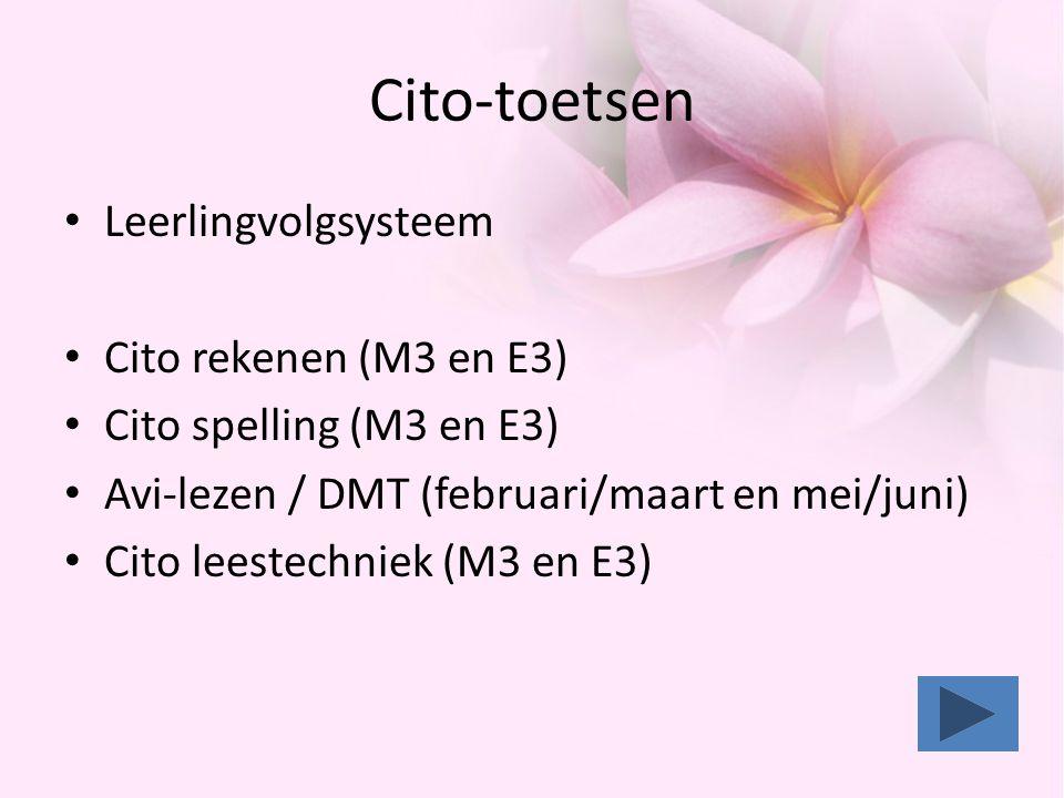 Cito-toetsen Leerlingvolgsysteem Cito rekenen (M3 en E3)