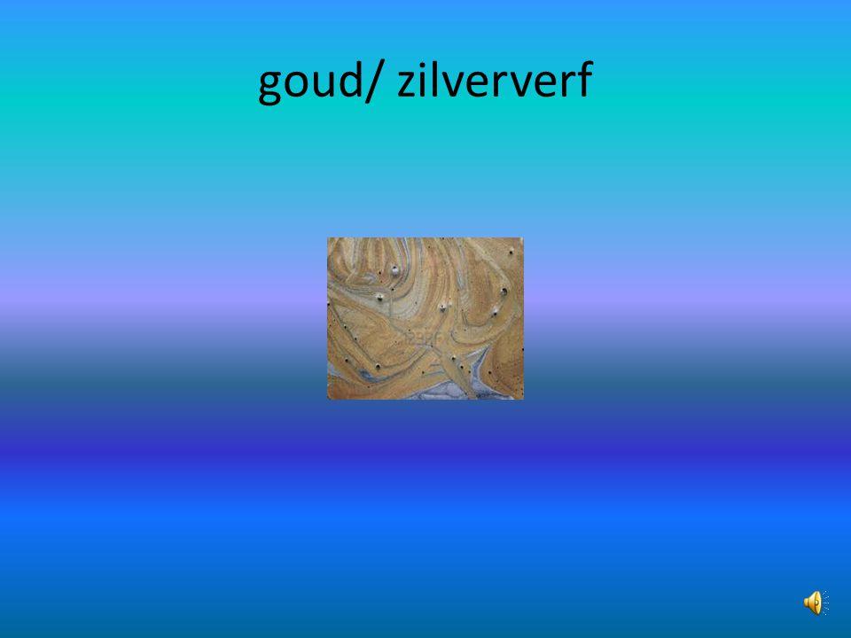 goud/ zilververf