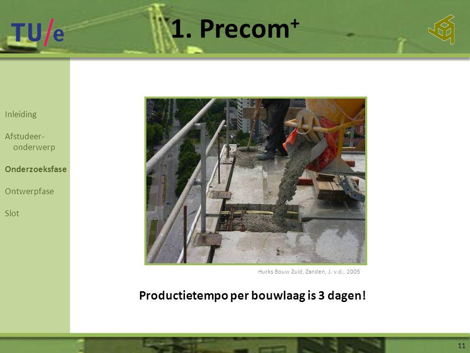 1. Precom+ Productietempo per bouwlaag is 3 dagen! Inleiding