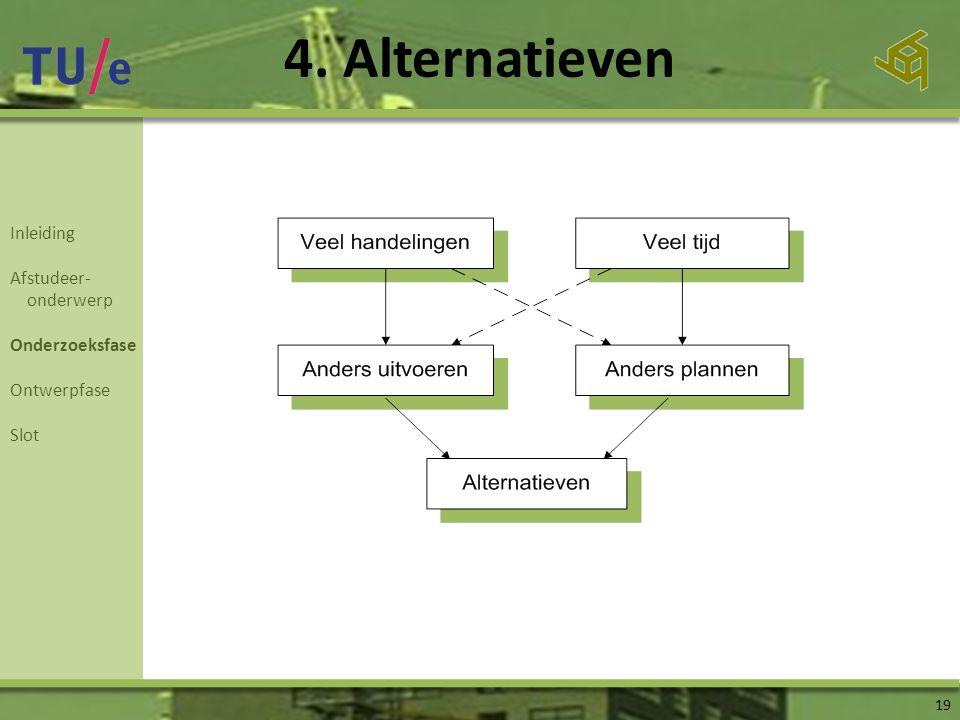 4. Alternatieven Inleiding Afstudeer- onderwerp Onderzoeksfase