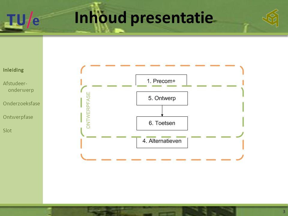 Inhoud presentatie Inleiding Afstudeer- onderwerp Onderzoeksfase